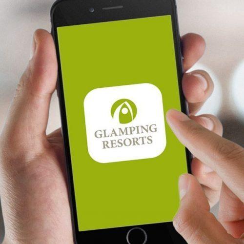 Screenansicht Glamping App