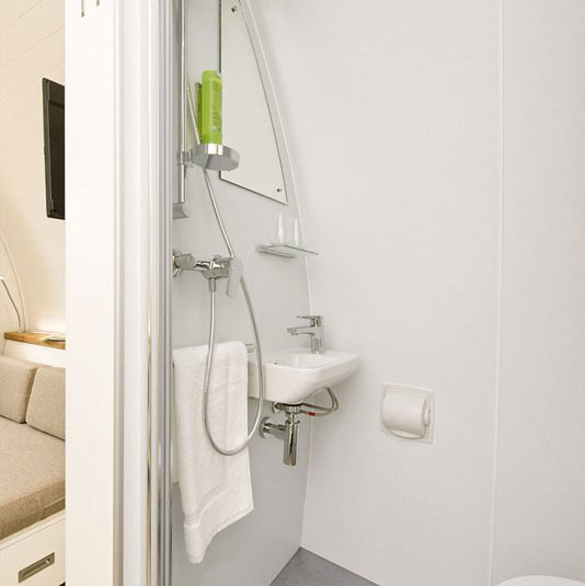 bathroom of the glamping unit