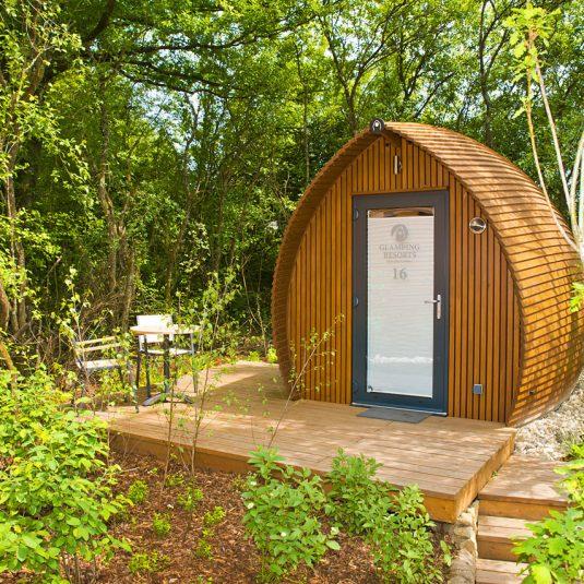 Le jardin forestier du Glamping Resort Biosphere Bliesgau