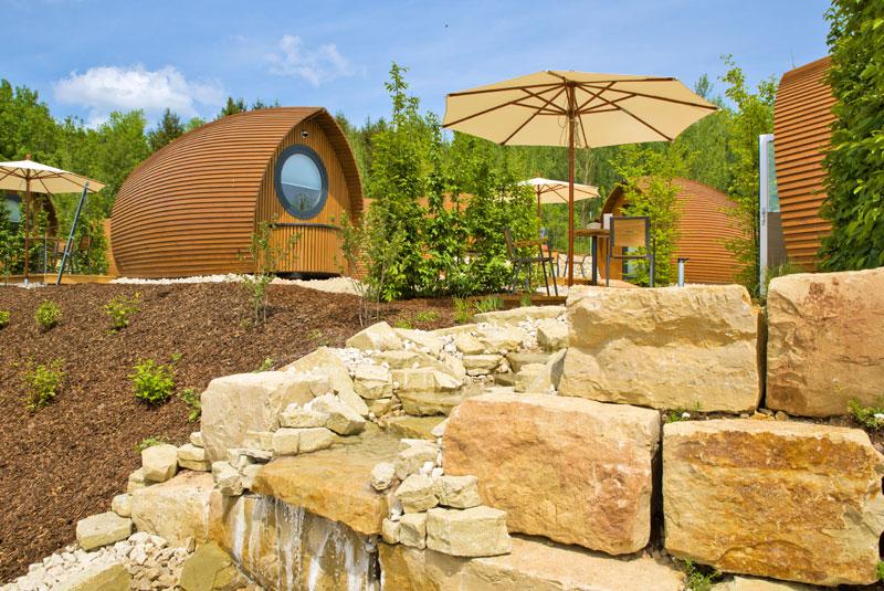 Der Weingarten im Glamping Resort Biosphäre Bliesgau
