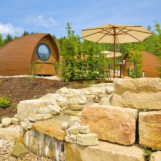 Le jardin vignoble de Glamping resort biosphere du Bliesgau