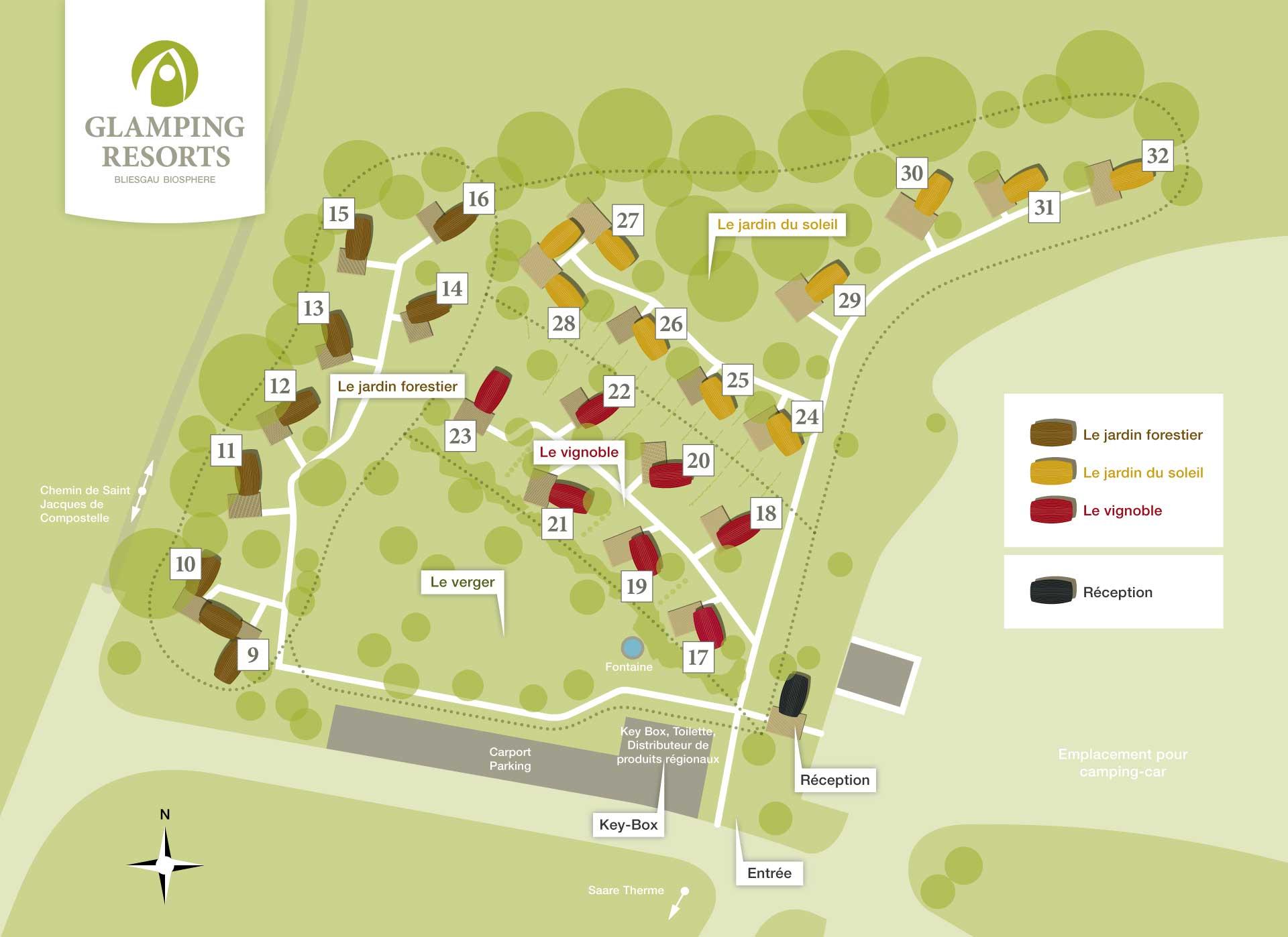 Carte du Glamping Resort Biosphère Bliesgau