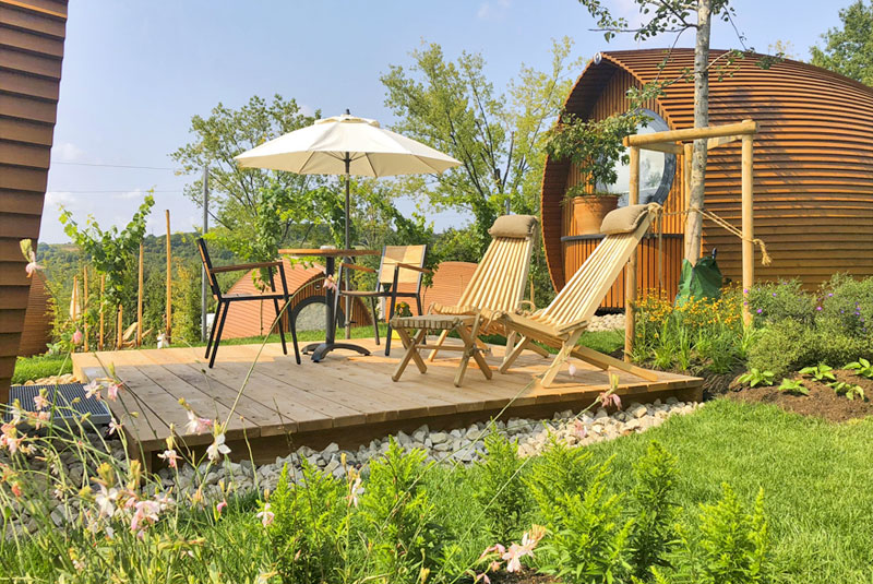 Glamping resort, sungarden